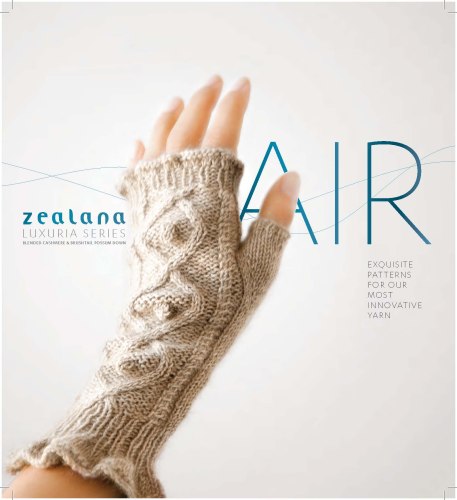 Zealana AIR Strickheft / Patternbook