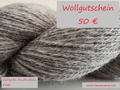 Yarn Voucher 50 € Download & Selfprint