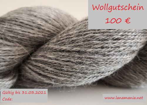 Yarn Voucher 100 € Download & Selfprint